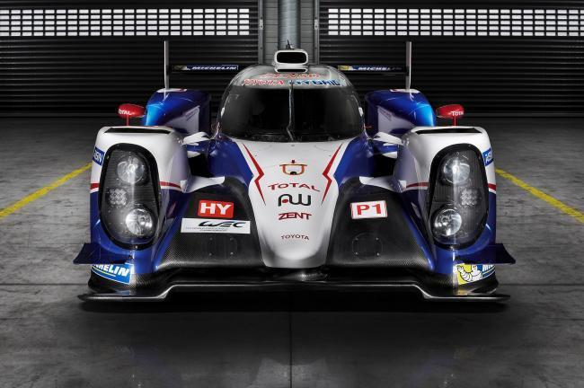 Toyota Ts040 Hybrid Race Car Front View