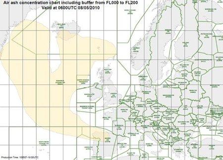 España afectada por otra nube de ceniza volcánica