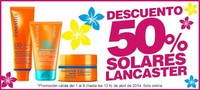 Hasta un 50 % de descuento en solares Lancaster en Bodybell online, hasta el 8 de abril