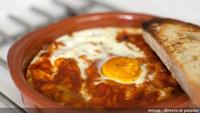 Receta de huevos al plato con ropa vieja