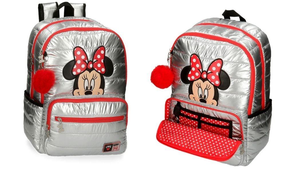 Mochila infantil Disney Minnie My pretty Bow de 44 cm acolchada con doble compartimento