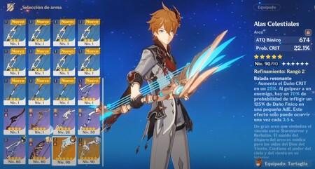 Armas para Tartaglia Genshin Impact