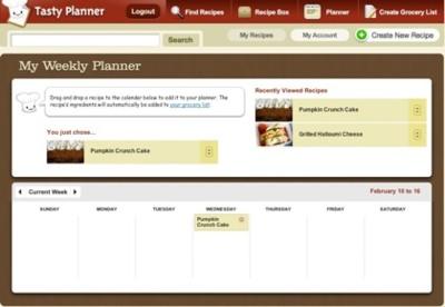 Tasty Planner, recetario y planificador de comidas semanales en una sencilla aplicación web