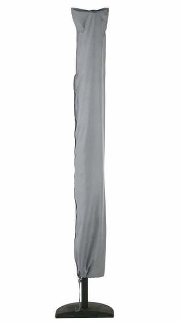 Funda de protección para sombrilla de tela gris claro