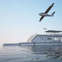Este concepto de yate combina un muelle y un puerto para hidroavión y es un hogar que se alimenta con energía solar