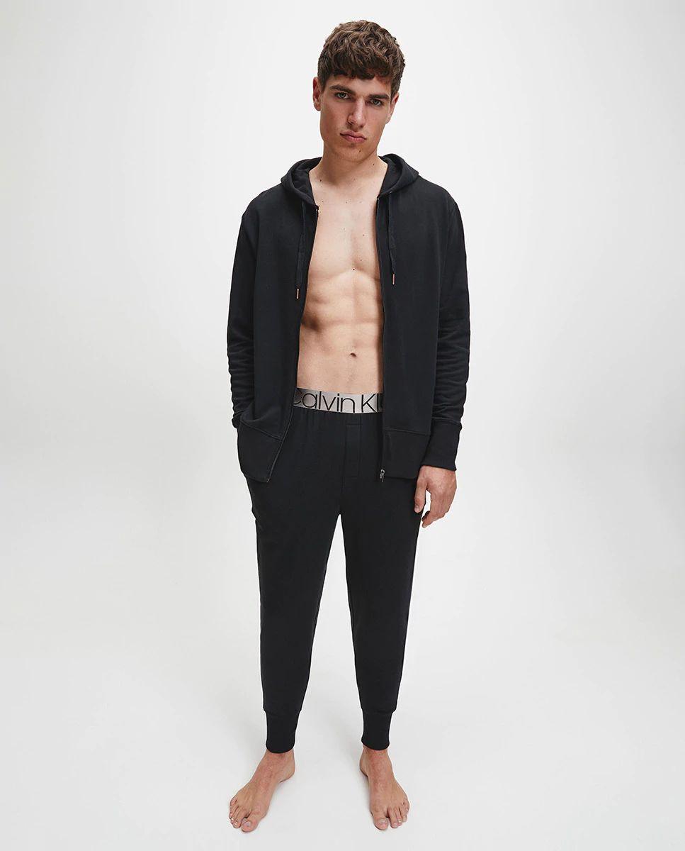 Chaqueta homewear de hombre negra con capucha