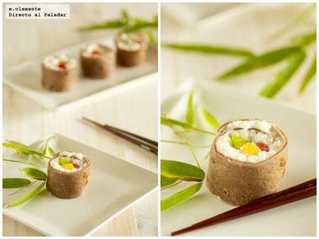 Sushi dulce. Receta
