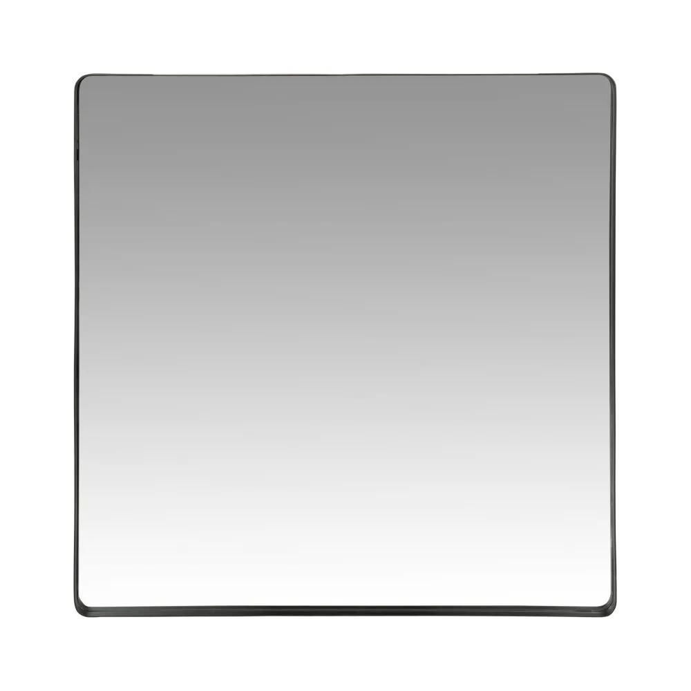 KARL.- Espejo de metal negro 70x70