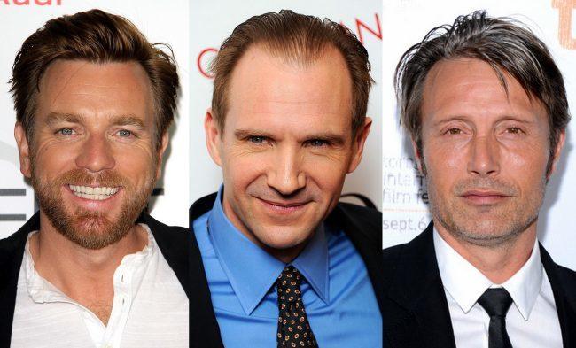 Ewan McGregor, Ralph Fiennes y Mads Mikkelsen