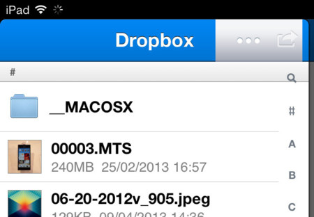 iOS Dropbox