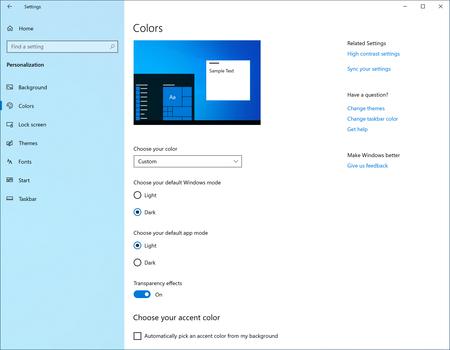 Windows 10 Modo Claro Ajuste