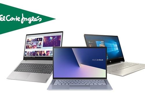Acer, ASUS, Lenovo, MSI, HP... 17 ofertas en portátiles en El Corte Inglés, con financiación sin intereses, envío gratis o recogidas Click&Car y Click&Collect
