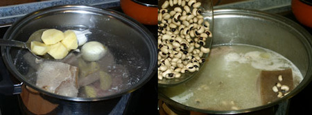 potaje de chícharos elaboración