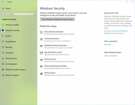 Nuevo nombre Windows Security