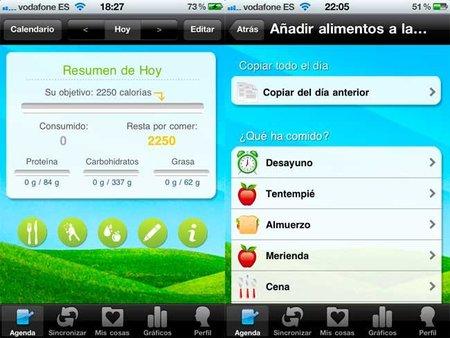 Shape up una app para iPhone que cuenta las calorías que consumimos