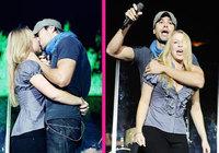 Enrique Iglesias besa apasionadamente a una fan