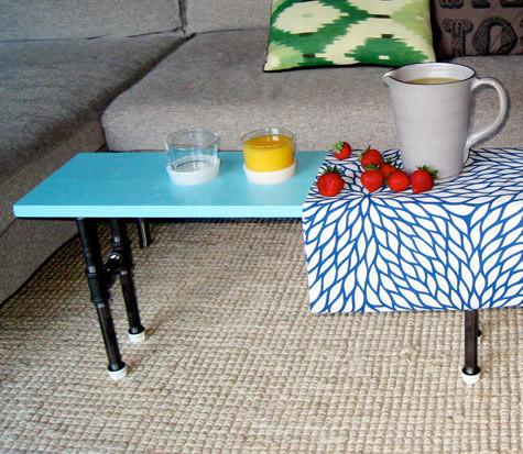 Foto de Una mesa auxiliar hecha con tuberías (4/7)