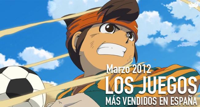 Los juegos más vendidos en España en Marzo 2012
