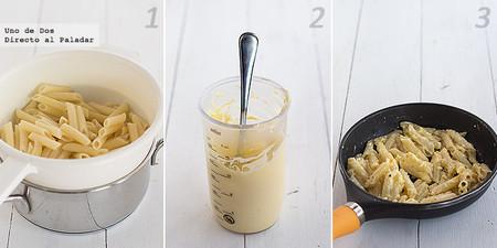 Macarrones con mayonesa al horno. Receta paso a paso