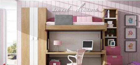Una buena idea: Gana espacio en el dormitorio de los niños con camas abatibles y muebles extraíbles