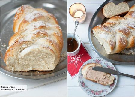 Trenza de brioche con foie: receta de Navidad