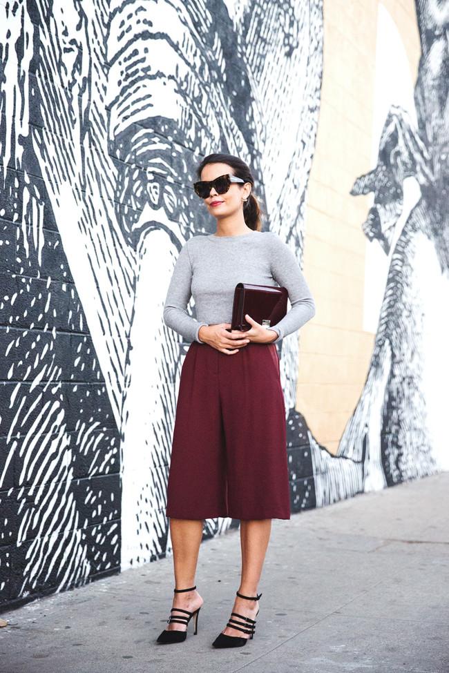 Burdeos Color Street Style Combionaciones Looks Inspiracion 9