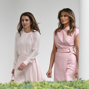 Melania Trump y Rania de Jordania, un duelo de estilo en color rosa