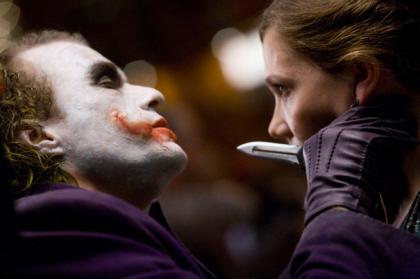 'The Dark Knight': El Joker y Rachel Dawes