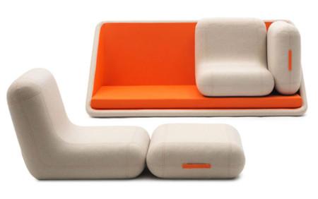 El sofá modular de Matali Crasset para Campeggi