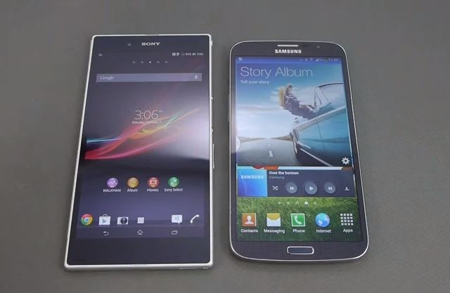 Xperia Z Ultra vs Galaxy Mega 6.3