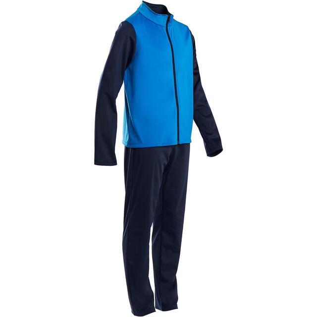 Chándal niño niña Domyos GYM'Y S500 transpirable gimnasia deportiva azul