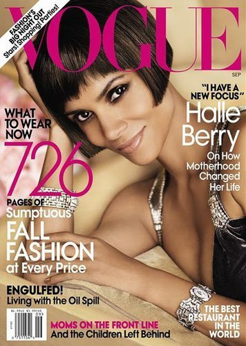 Halle Berry, transformadísima y haciendo honores para la revista Vogue
