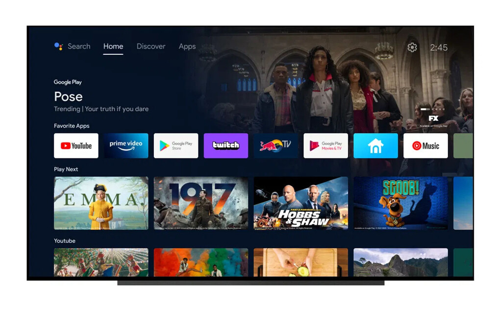 Android TV renueva su interfaz para parecerse a Google TV