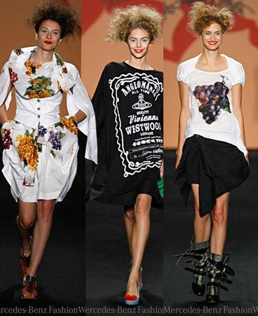 Semana de la Moda de Berlin Anglomanía de Vivienne Westwood Primavera-Verano 2009