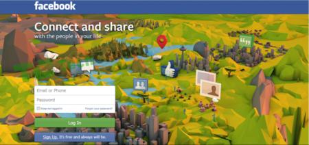Facebook busca un nuevo diseño para la página que se muestra a usuarios no registrados