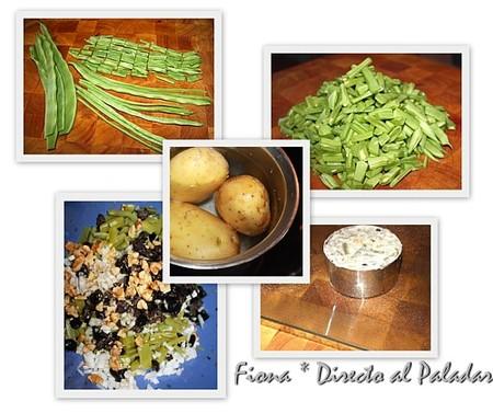 Proceso de elaboración de la ensaladilla de judías verdes