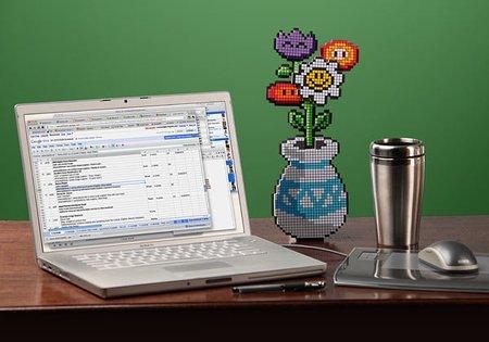 Un florero pixelado