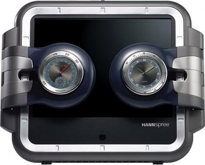 Televisión portátil con termómetro, higrómetro y reloj, de Hannspree