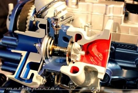 Turbocompresor de baja inercia seccionado