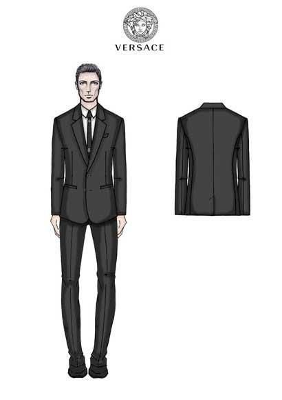 Traje diseñado por Versace para el Real Madrid
