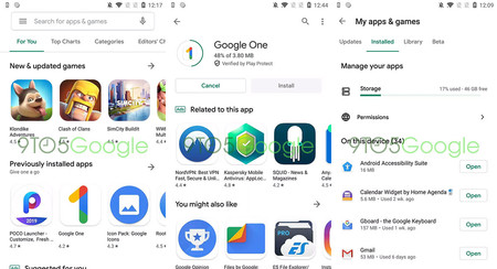 Así es Google Play con el nuevo diseño Material Theming, todavía en pruebas