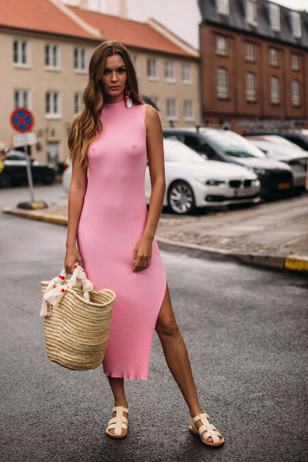 Street Style Vestido Maxi Entretiempo 2021 04