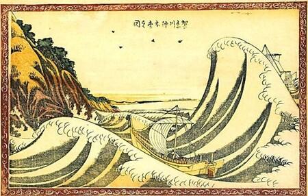 """""""Vista de Honmoku desde Kanagawa"""", 1803."""
