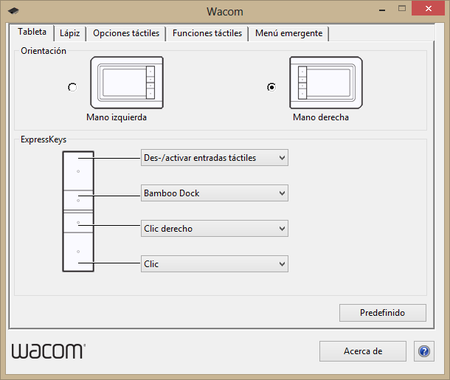 Wacom preferencias 1