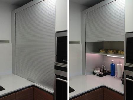 Antes y despu s ganando espacio y luz natural - Persianas para muebles de cocina ...