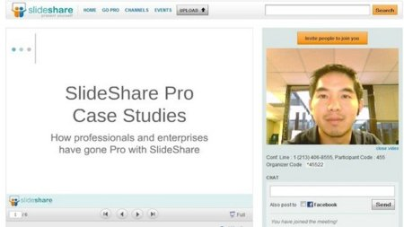 Zipcast, mantén reuniones virtuales y comparte presentaciones en SlideShare