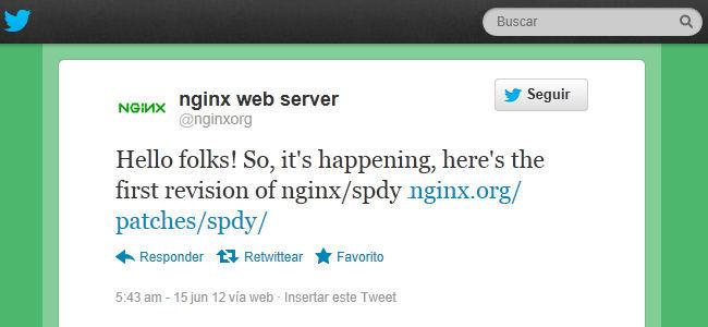 Anuncio de soporte SPDY en Twitter