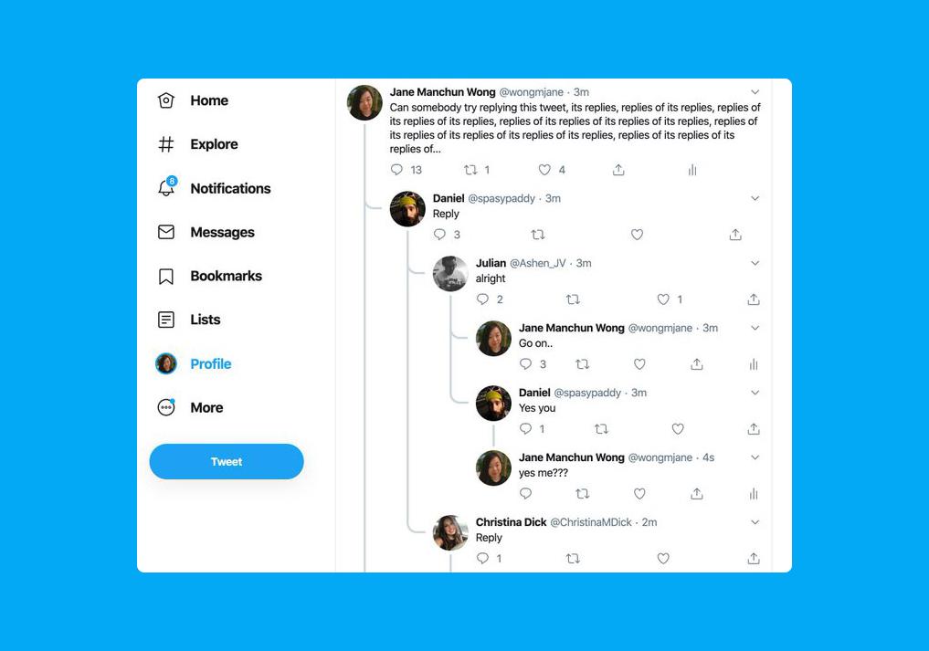 Twitter está probando hilos de conversaciones como los de Reddit en la web, y lucen bastante cómodos de seguir