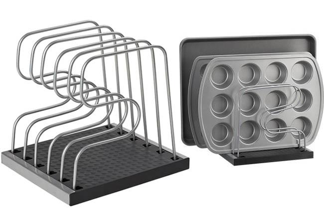 Organizador para moldes y bandejas de hornear for Organizador utensilios cocina