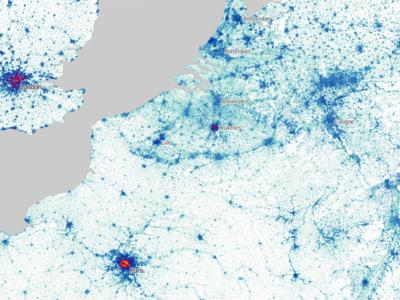 Todos los seres humanos que viven en el planeta, localizados en este fascinante mapa interactivo